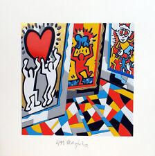 UGO NESPOLO - KEITHOLOGY - omaggio a Keith Haring - SERIGRAFIA firmata