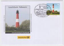 limitierter Umschlag Dt. Post E.B.-Aktionstag PWZ Leuchtturm Pellworm 2014
