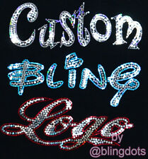 Custom Bling Sequins Transfer No rhinestones Company Team Logo Iron On Hot fix