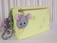 Betsey Johnson In Queso Emergency Cheese Wristlet Clutch NWT