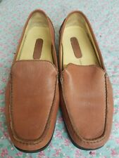 e80571c7fd4 Rockport Brown Leather Loafers Womens Size 10M Slip On Shoes Super Soft
