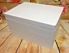 WHITE Wooden Box Memory Wedding Trunk Storage Case Kids Toys Chest Organiser