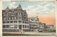 Ocean Grove, NEW JERSEY - Ocean Pathway - Majestic Hotel - 1921 - period car