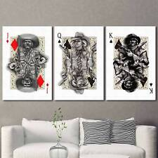 Poker J Q K Glamour 3PCS HD Canvas Print Home Decor Room Wall Art Picture