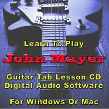 JOHN MAYER Guitar Tab Lesson CD Software - 74 Songs