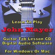 JOHN MAYER Guitar Tab Lesson CD Software - 74 Songs