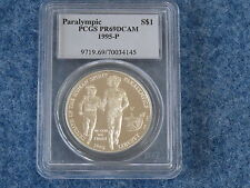 1995-P Paralympic Silver Dollar PCGS PR69DCAM Gem Proof B7703