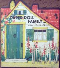 Vintage Uncut 1934 Paper Doll Family & Their House Paper Dolls~#1 Reproduction