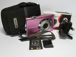 Nikon Coolpix S4000 Touch Screen 12MP 4x Wide Nikkor Zoom Digital Compact Camera