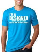 Designer T-shirt Funny Designer Tee Design Designer Profession Occupation Tee