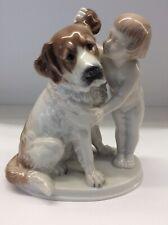 """Rosenthal Porzellan figur """"Geheimnis"""" Mädchen mit Hund Top"""