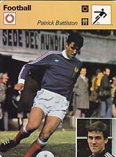FOOTBALL carte joueur fiche photo PATRICK BATTISTON ( FRANCE )