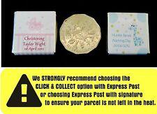 50 x Personalised Mini Chocolates in Christening Design
