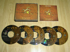 RIVEN THE SEQUEL TO MYST PC GAME 5x CDROM JEWEL CASE COMPLETE