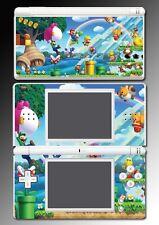 New Super Mario Bros 3D Land Luigi Yoshi Game Skin Cover Nintendo DS Lite