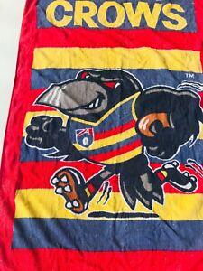 Rare Vintage 90s Adelaide Crows Football Club Beach Towel Cornes Blight era
