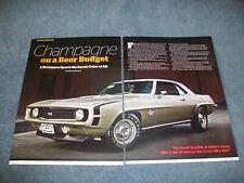 """1969 Camaro SS396 L78 375hp Artículo """"Champán en Un Cerveza Económico"""""""
