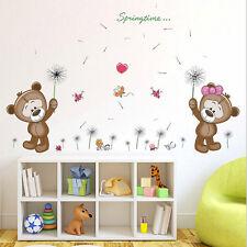 Cute Couples Bear Removable Vinyl Decal Broken Wall Sticker Art Mural Room Decor