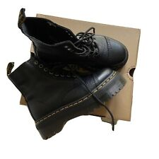 DR MARTENS Sinclair Black Aunt Sally Leather Zip Leather Boots UK 5 BRAND NEW