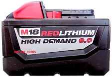 (1) New M18 Milwaukee 48-11-1890 9.0 AH Battery 18V 18 Volt XC Redlithium HD