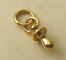 SOLID 9K 9ct Yellow Gold 3D BABY DUMMY Charm/Pendant  RRP $109