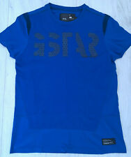 Authentic G-Star Mens Blue & Black Short Sleeved T-Shirt Top Size Medium M