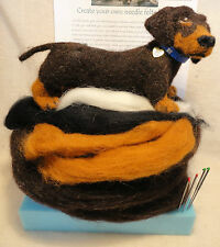 Needle felting Kit... Needlefelt your own Dachshund Dog