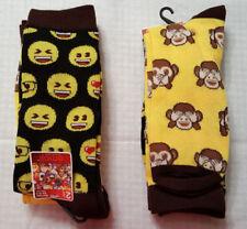 3 pares nuevo para hombres niños EMOJI divertidos Caras Suave Cómodo Calcetines UK Size 6-11