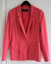 Coral PAPAYA Long Sleeved Fully Lined Button Fastening Two Front Pocket Jacket 8