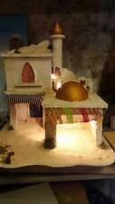 presepe stile arabo artigianale crib 56x50 alto 64cm per pastori 12,13cm aldo 7