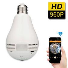 Mini Security IP Camera 360 degree Panoramic 960P Hidden wifi Camera Light Bulb
