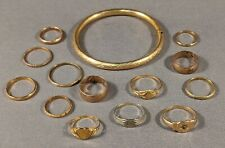 14-Piece COLLECTION Antique 10K GOLD BABY & CHILDREN'S RINGS + Bracelet