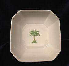 "VILLEROY & BOCH HEINRICH CARIBIC SQUARE VEGETABLE BOWL 7 3/4"" PALM TREE GREEN"