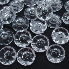 New 50pcs 20mm Clear Flower Plastic Buttons Sewing Craft