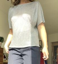 Vtg 90s Linda Allard for Ellen Tracy Chain mail style top Size M Silver