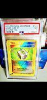 Pokemon Card Aquapolis Reverse Foil 2003 Psa Graded Near Mint Grass Cube Trainer