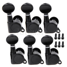 2 Sets 6R Black Guitar String Tuning Pegs Tuners Machine Heads