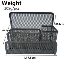 Mesh Desk Organizer Office Supplies Caddy 4 Compartments Black