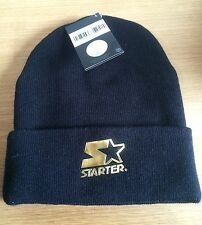 Beanie Hat Authentic Starter Black Label with Gold Logo Warm Woolly Winter Hat