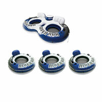 Intex River Run II Inflatable Pool Tube Float & Floating Lake Raft (3 Pack)