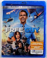 FREE GUY ( Blu-ray + Digital Code, 2021 ) NEW SEALED Ryan Reynolds