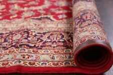 One-of-a-Kind Vintage Floral VIBRANT RED Hand-made Area Rug Oriental Carpet 9x13