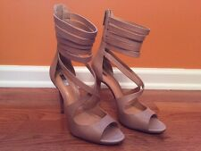 Schutz Women's High Heels Shoes Sandals Size 9 B Zip Up Back
