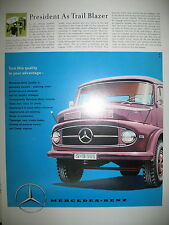 PUBLICITE DE PRESSE MERCEDES BENZ UTILITAIRE CAMION AD 1959