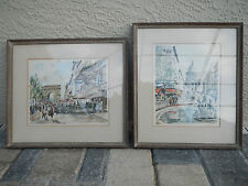 Artist Herbelot French watercolors signed and numbered (Qty 2)