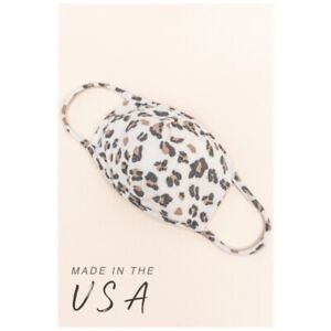 Washable Reusable FACE MASK Filter Pocket LEOPARD Fashion Protective Made in USA