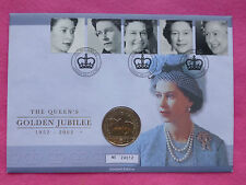 2002 GOLDEN JUBILEE FIVE POUND £5 BU COIN   FDC / PNC