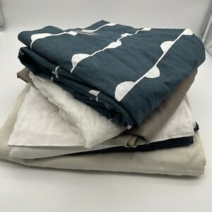 Bundle of 6 Single Curtains 100% Cotton Material Craft Various Sizes