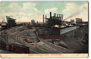 Ashtabula and Superior Docks, Ohio - 1919 Postcard
