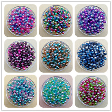 4 / 6 / 8 / 10mm Colorful Acrylic Round Pearl Spacer Loose Beads Jewelry  MG
